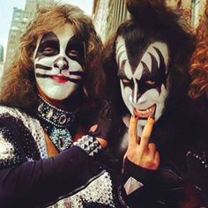 Gene Simmons and Peter Criss-Kiss......