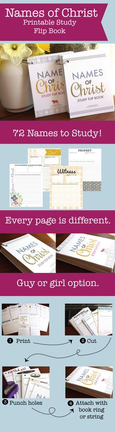 Printable book to study the names of Christ!  So cool for personal or family study!  Good for Easter baskets!