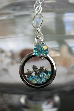 Seaside Living Locket with Floating Charms by Origami Owl. $65.00, via Etsy.