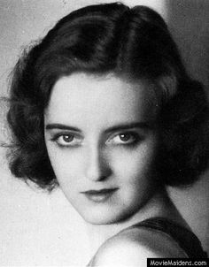 Bette Davis - 1930s actress ... when she was young - MovieMaidens.com