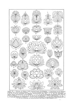 Free Clip Art and Digital Collage Sheet - Magyar Ornament Hungarian Embroidery, Folk Embroidery, Embroidery Stitches, Hungarian Tattoo, Japanese Embroidery, Floral Embroidery, Embroidery Designs, Zentangle Patterns, Collage Sheet