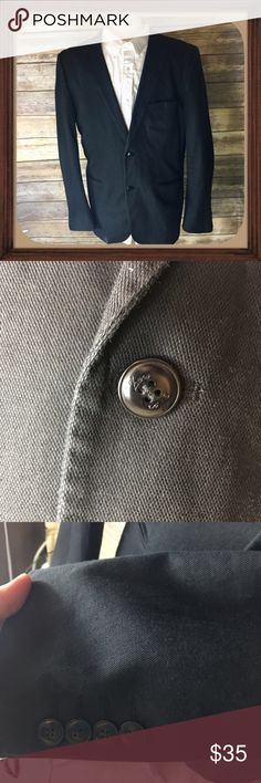 Zara man Men's Black Blazer size USA 42 Men's black blazer. Size 42 USA. In excellent used condition. 28 inches long. 24 inches long. 22 inches arm pit to arm pit Zara Suits & Blazers Sport Coats & Blazers