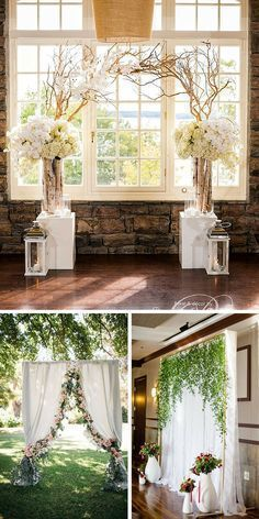 30 Wedding Backdrop Ideas For Ceremony, Reception and More ❤ Browse our wedding backdrop ideas gallery, find for yourself perfect paper or floral ideas with different colors and textures. See more: http://www.weddingforward.com/wedding-backdrop-ideas/ #wedding #backdrop #weddingceremonyideas