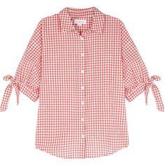 Velvet by Graham & Spencer Priya Checked Cotton Shirt Graham Spencer, Check Shirt, Pink Tops, Velvet, Fashion Design, Clothes, Women, Cotton, Polyvore