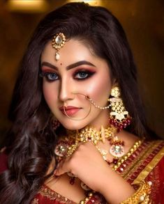 Hd Bridal Makeup, Bridal Makeup Looks, Indian Bridal Makeup, Bride Makeup, Bridal Looks, Wedding Makeup, Indian Bridal Photos, Indian Wedding Fashion, Indian Wedding Photography Poses