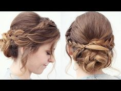 Romantic Braided Updo/ Upstyle | Updo Hairstyles | Braidsandstyles12 - YouTube