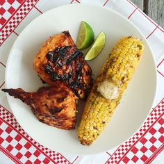 Barbecue Chicken with Chili-Lime Corn on the Cob