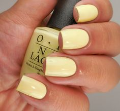 Want some ideas for wedding nail polish designs? This article is a collection of our favorite nail polish designs for your special day. Opi Nail Polish Colors, Yellow Nail Polish, Yellow Nails, Nail Polish Designs, Opi Nails, Nail Colors, Manicure, Nail Designs, Bright Summer Nails