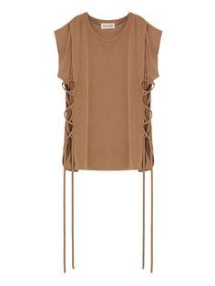 The Dayz tokyo|ザ デイズ トウキョウ公式通販|セレクトショップTUCK LACE UP CUTSEWの詳細情報| RUNWAY channel(ランウェイチャンネル)(161712700601) Knit Fashion, Fashion Outfits, Womens Fashion, Western Tops, Shirt Blouses, Lounge Wear, Boohoo, Cloths, Knitwear