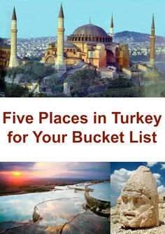 5 places in Turkey that should be on your bucket list. Number 3 just blew my mind! #travel #turkey