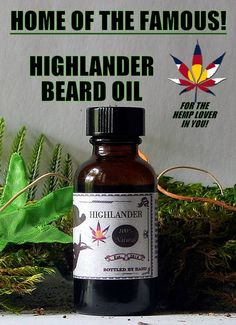 NOW AVAILABLE! ORDER TODAY!  Handcrafted for the hemp lovers of the world!  Enjoy the rich feel and deep smell of Mother Earth.  Highlander Beard Oil roams with the goodness of Hempseed, Almond and Grapeseed oil, and the musky, sweet, rustic tones of Patchouli, Cedarwood, Vetiver, Bergamot, Myrrh and one other secret scent!