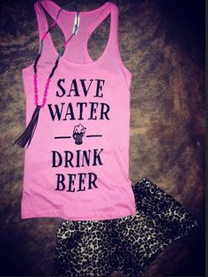 Save water drink beer tank. Fitted