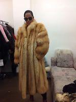 AMAZING NATURAL CHERRY RED FOX EXQUISITE FULL SKIN FUR COAT