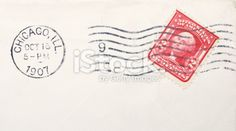 Vintage Canceled Two Cent Washington Stamp And Chicago 1907 Postmark