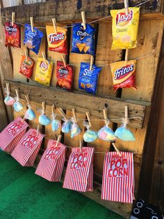 DIY Concession Stand to help with your movie night party food options!