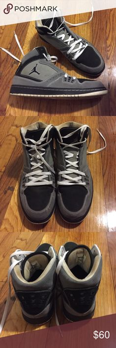 Men's Nike Air Jordans Men's Nike Air Jordans. Good used condition. The outside is a tad dirty but in perfect shape. The white inside is discolored on the inside of the tag and around it. Seen in pictures. Does not come with box. No trades please! Nike Shoes Sneakers