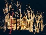 Christmas lights on houses