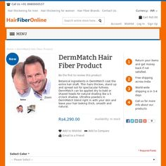 Botanical ingredients in DermMatch coat the entire hair shaft. Thin hairs thicken, stand up and spread out for spectacular fullness. DermMatch can be applied dry to bald or shaved heads for natural shading like a 5 o'clock shadow. Ultrafine powders in DermMatch blend right in with your skin and leave your hair looking thick, smooth and natural.