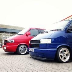 VW T4 Transporters sitting low - Via: http://instagram.com/333morgan333