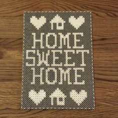 Home Sweet Home - Frame hama beads by sarahick - Pattern: https://www.pinterest.com/pin/374291419004881368/