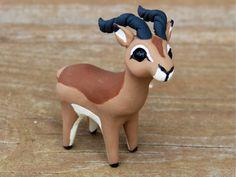 Antelope: Handmade miniature polymer clay animal by AnimalitoClay