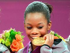 Gabby Wins Celebrity Fans.  Celebrities celebrate all-around gymnastics champ Gabby Douglas!