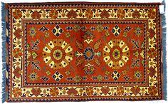 Tapis Kargai extra fin - Pays Afghanistan - 156 x 101 cm - Laine - 600 € - www.tapisdorient.net