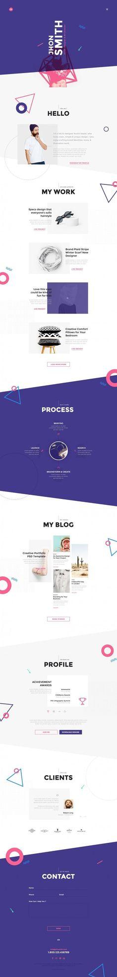 Me Creative Portfolio Web Design (Designer Unknown)  Latest News & Trends on #webdesign | http://webworksagency.com