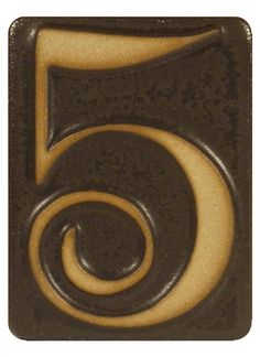 Pewabic Pottery Ceramic House Number Black my street number in NYC Gainesvort market area. Ceramic House Numbers, Tile House Numbers, Door Numbers, Pottery Houses, Ceramic Houses, Craftsman Decor, Craftsman Style, Lucky Number, Number 5