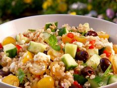 Barley Greek Salad Recipe : Patrick and Gina Neely : Food Network