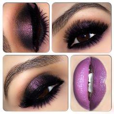 Dark plum makeup