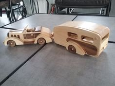 Handmade Wooden Toy Car and Trailer, 1935 Woody Roadster & Trailer, #odinstoyfactoy #handmade #handcrafted #woodentoy #toys #cars #trailers