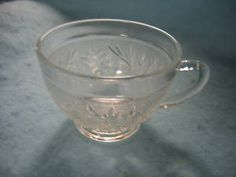 anchor hocking clear sandwich glass punch cups