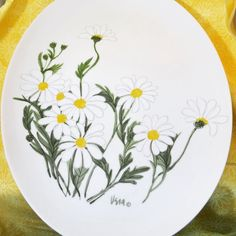 Vintage Vera for Mikasa Daisies Platter-#thinkspring #etsyshop #etsy #vintage #vera #veraneumann #daisy #pin #daisies #spring #flowers #mikasa #duckwells #70s #1970s