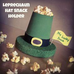 Leprechaun Hat Snack Holder Craft via www.jmanandmillerbug.com.