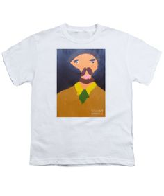 Patrick Francis White Designer Youth T-Shirt featuring the painting Portrait Of Eugene Boch 2015 - After Vincent Van Gogh by Patrick Francis