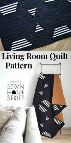 Patchwork Quilt Patterns, Modern Quilt Patterns, Simple Quilt Pattern, Modern Baby Quilts, Patchwork Ideas, Quilting Patterns, Textiles, Living Room Quilts, Modern Quilting Designs