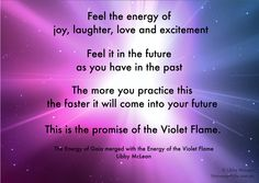 A promise of the Violet Flame