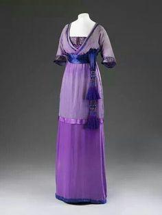 Paul Poiret purple tassle eveing gown 1911