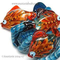 "ANASTASIA--lampwork bead--(1 focal)--""THROUGH THE WAVES""--SRA"