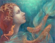 Mer Queen Original Oil Painting by EtherealArt on Etsy, $460.00