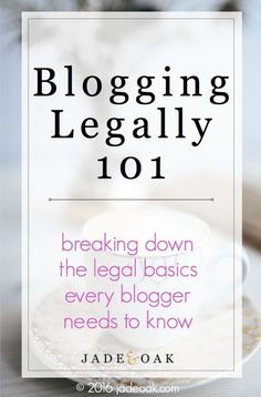 Blogging Legally 101