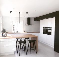 If you want no gap between top of cabinets and the ceiling, also allows downlights built-in
