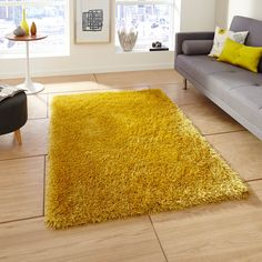 With a mixture of these two materials, it provides a super soft texture as well as making it easy to maintain and ideal for any style of flooring. #Yellow #YellowRooms