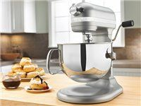 Click Image Above To Buy: Kitchenaid 6-qt. Professional 600 Series Stand Mixer, Nickel Pearl