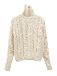 Beige Short Cable Sweater With Turterneck Winter Fashion 2014, Autumn Fashion, Cute Fashion, Fashion Outfits, Cable Knit Sweaters, Cozy Sweaters, Beige Shorts, Fall Wardrobe, Pull