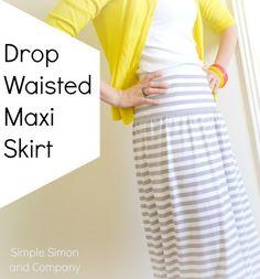 Simple Simon & Company: A Drop Waisted Maxi Skirt