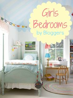 Darling Girls Room Ideas! #girls #bedroom #decor #ideas remodelaholic.com