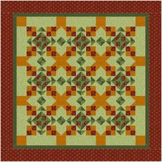 Cross Keys used in a quilt setting. Block by Gina Gempesaw. Find block pattern in Quiltmaker's 100 Blocks Volume 6. Blog Tour: http://www.quiltmaker.com/blogs/quiltypleasures/