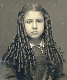 Victorian Teen with Sausage Curls Closeup by Mirror Image Gallery, via Flickr